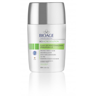 BIO-ACNE SOLUTION FLUIDO SECATIVO TONALIZANTE FPS30/FPUVA 11,5 NUDE - 45ML